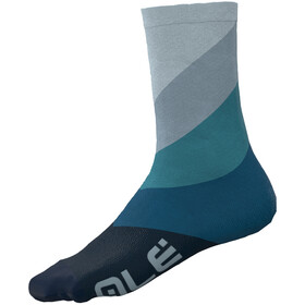 Alé Cycling Diagonal Digitopress Q-Skin Socks 16cm Men, blue